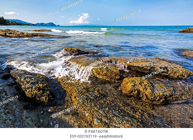 Sea and rock coast at Khanom beach ,Nakhon SiThammarat? Thailand