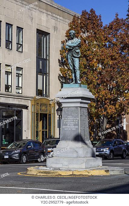 Alexandria, Virginia. Appomattox Statue to Alexandria's Civil War Heroes