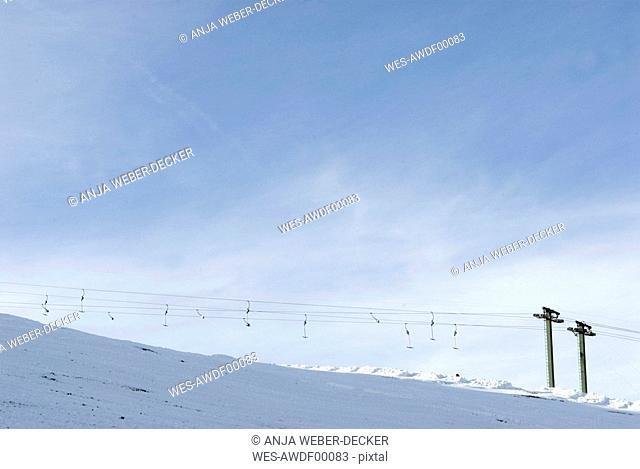Germany, Allgaeu, Ski lift