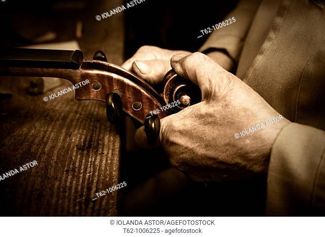 Luthier workshop  Manufacturing stringed musical instruments  Handicraft