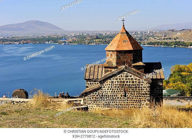 ''Holy Mother of God'' Church (Surp Astvatsatsin), Sevanavank Monastery on Sevan Peninsula, Lake Sevan, Gegharkunik region, Armenia, Eurasia