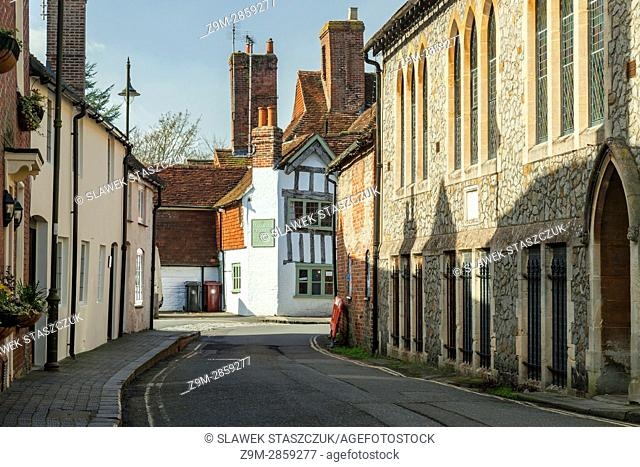 Early spring afternoon in Petworth, West Sussex, England