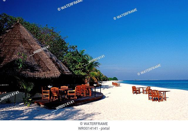 Beachbar, Indian Ocean, Maldives Island