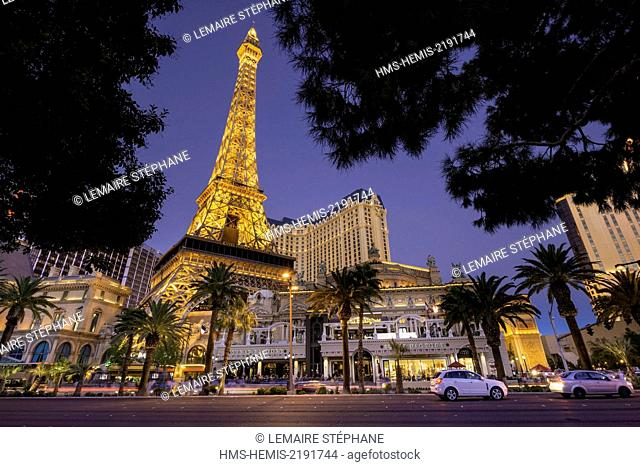 United States, Nevada, Las Vegas, the Strip, Paris Las Vegas hotel and casino