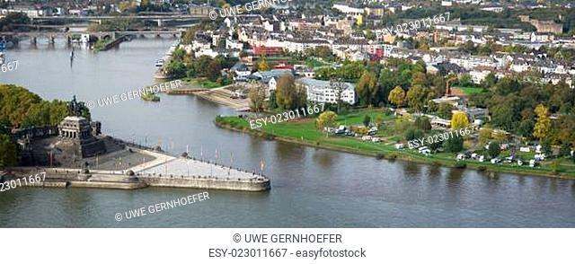 Reiterstandbild Kaiser Wilhelm I., Deutsches Eck, Koblenz, Deutschland