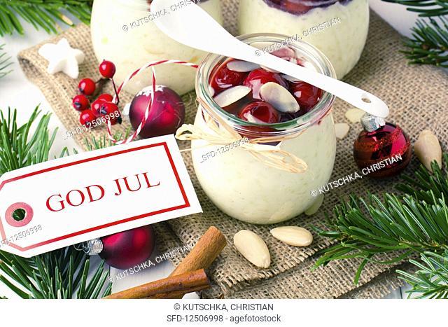 Danish rice pudding for Christmas