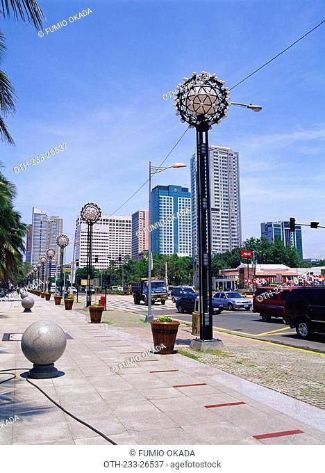 Newly renovated Roxas Boulevard, Manila, Philippines
