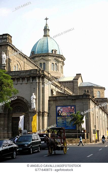 Philippines. Manila. Intramuros colonial district. Cathedral