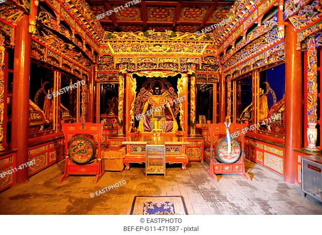 scenery inside the Dazhao Temple