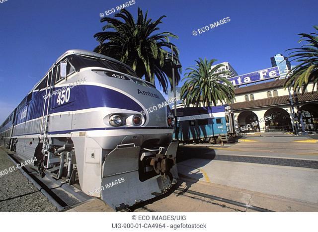 Santa Fe Train Depot, Downtown San Diego, California SD