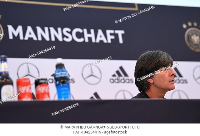Coach Joachim Jogi Loew (Germany), portrait, portrait, portrait, head. GES / Football / Preparing for the 2018 World Cup: Press Conference of the German...