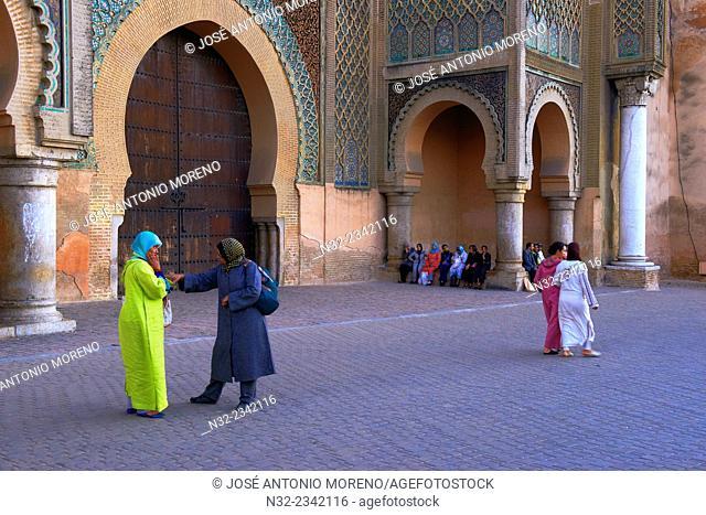 Bab al Mansour, Meknes, Bab Mansour gate, UNESCO World Heritage Site, Morocco, Maghreb, North Africa