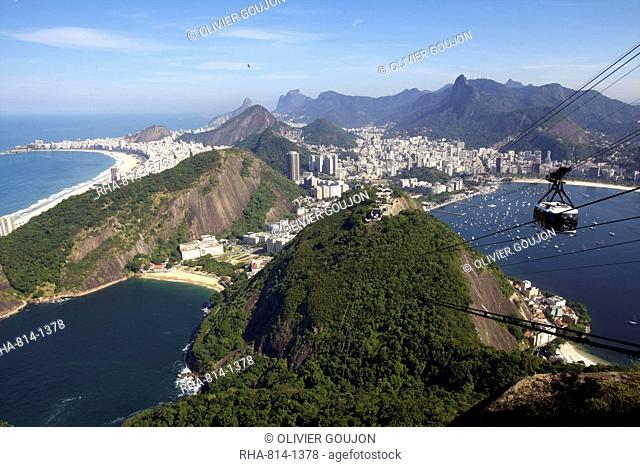 View over Rio de Janeiro from the Sugarloaf Mountain, Rio de Janeiro, Brazil, South America