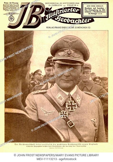 1940 Illustrierte Beobachter front page showing Reichsmarschall Herman Goering
