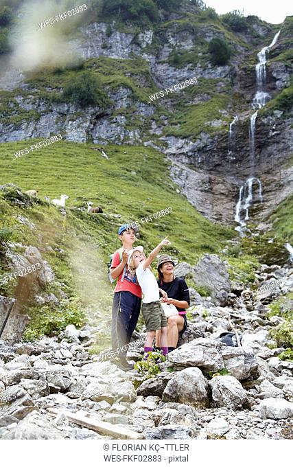 Austria, South Tyrol, family hiking