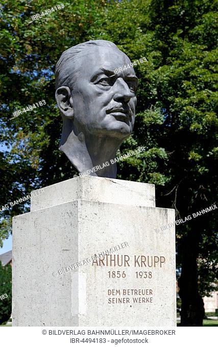 Monument Arthur Krupp, Bernsdorf, Industrial District, Lower Austria, Austria