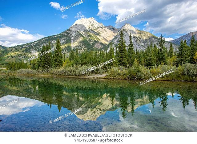Small lake along Route 40 in Kananaskis Country in Alberta Canada