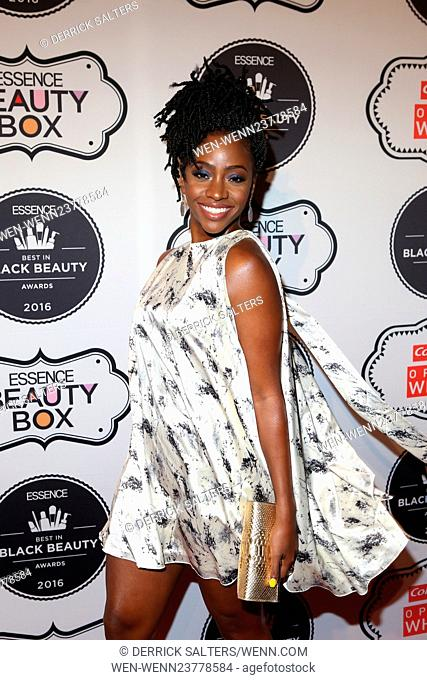 The 2016 ESSENCE Best in Black Beauty Awards Carnival Held at Mercantile Annex 38 Featuring: Teyonah Parris Where: New York, New York