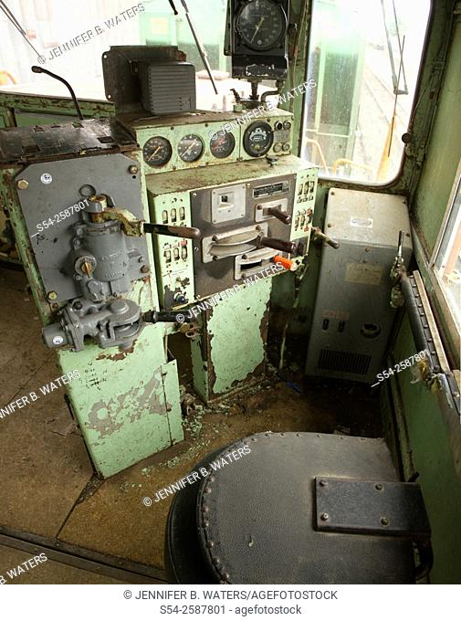 Interior of the cab of Chessie System number 7311