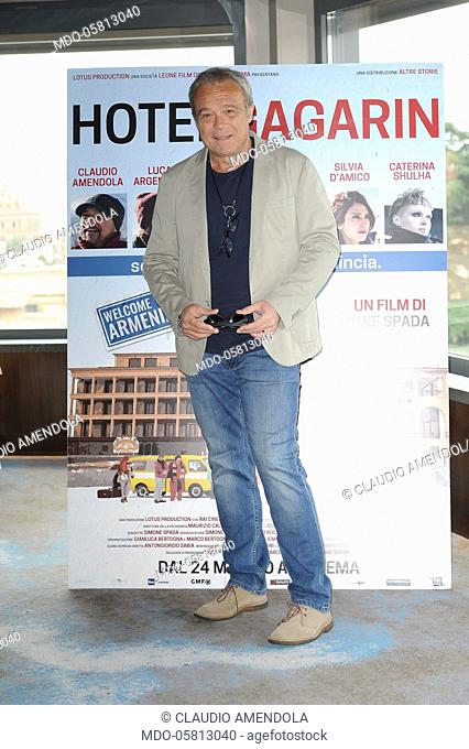 Italian actor Claudio Amendola attends the Hotel Gagarin movie photocall, on Eden Hotel terrace. Rome, May 22nd 2018