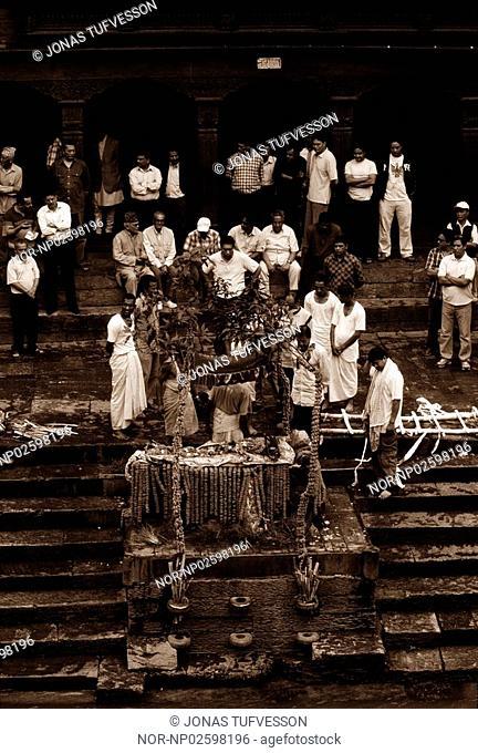 A funeral in Kathmandu, Nepal