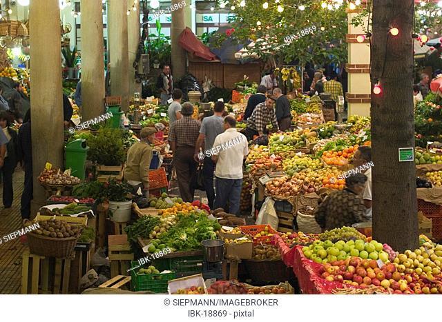 Market hall Mercado dos Lavradores in Funchal - Madeira