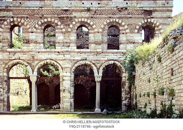 Byzantine Palace of the Porphyrogenitus (c13th) or Tekfur Sarayi Istanbul Turkey
