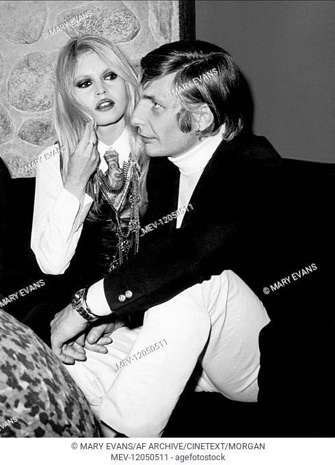 Brigitte Bardot & Gunter Sachs Married Actress & Producer 01 May 1968 Brigitte Bardot und Gunter Sachs auf einer Party in St
