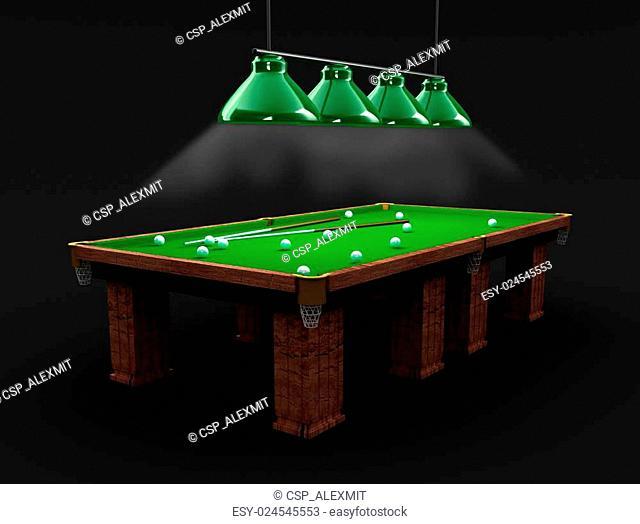 Billiard table in the black room