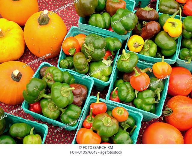Montpelier, VT, Vermont, Farmer's Market, Peppers