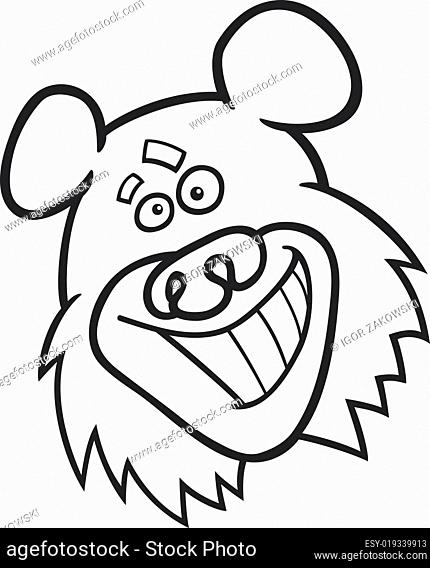 funny bear for coloring book