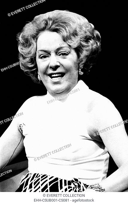 Christine Jorgensen, 49 in a publicity still promoting her appearance on 'Tomorrow' show. August 19, 1972. During the 1970s and 1980s