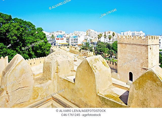 Walls of the kasbah  Safaqis  Tunisia