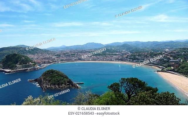 Blick auf San Sebastian vom Monte Igueldo, Spanien
