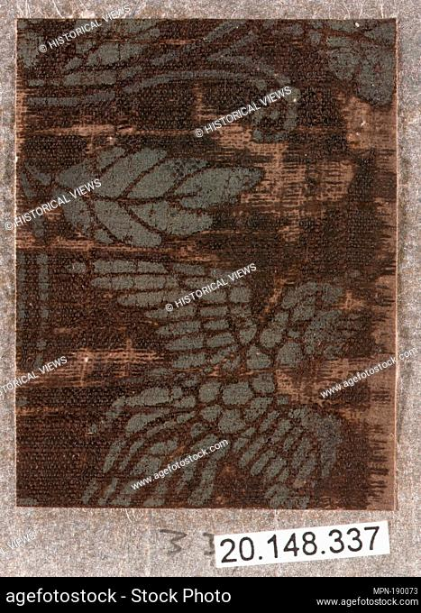 Piece. Date: 17th century; Culture: Japan; Medium: Silk / Compound weave; Dimensions: 2 1/4 x 1 3/4 in. (5.7 x 4.4 cm); Classification: Textiles-Woven; Credit...