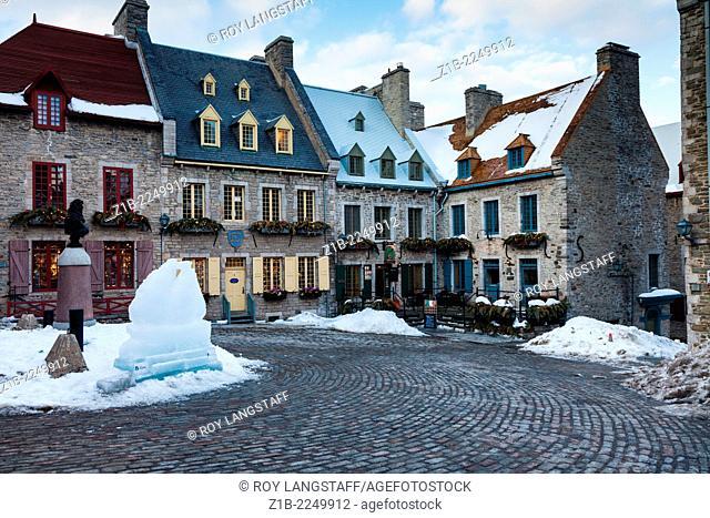 Place Royale in the Quartier Petit Champlain, Quebec City, Canada