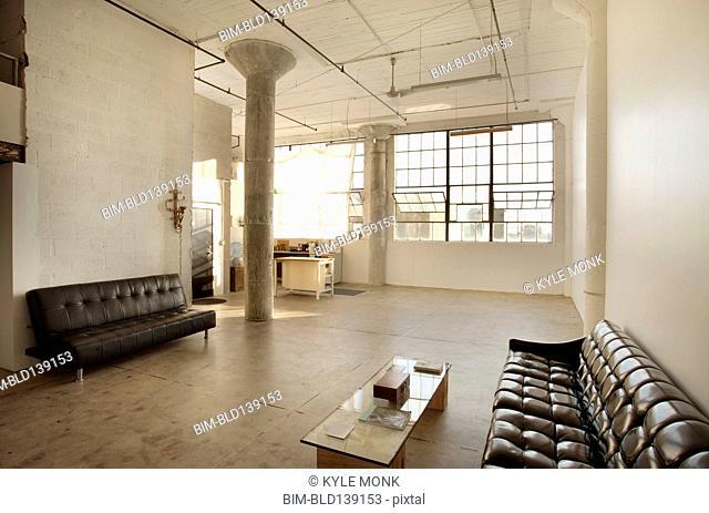 Sofas in living room of loft