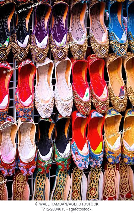 Curly-Toed slippers, Bur Dubai Souk, Dubai, United Arab Emirates