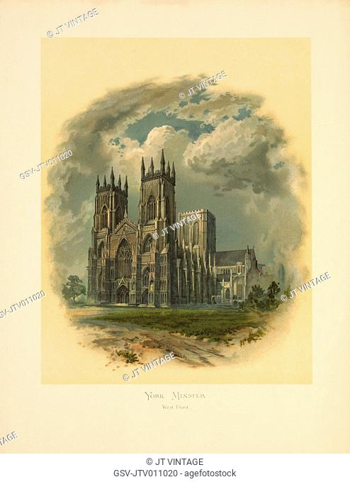 York Minster, West Front, Arthur Wilde Parsons, 1886