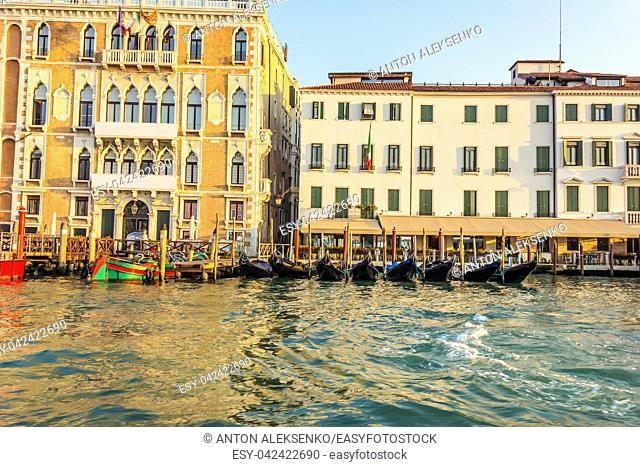 Ca' Giustinian Palace of Venice in the Grand Canal