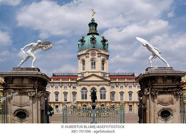 Europa, Germany, Berlin, Charlottenburg,  Chlarlottenburg palace, erected 1695-1699 as a summer residence for Queen Sophie Charlotte