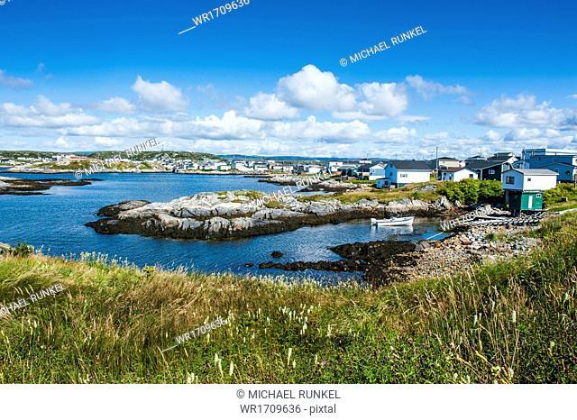 View over Port aux Basques, Newfoundland, Canada, North America