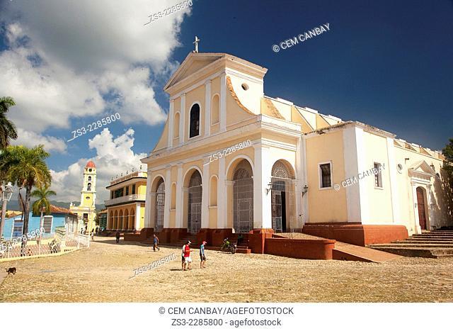 View to the Iglesia de Santisima Trinidad Church with the Museo Romantico-Romantic Museum and Museo Nacional de la Lucha Contra Bandidos-National Museum of the...