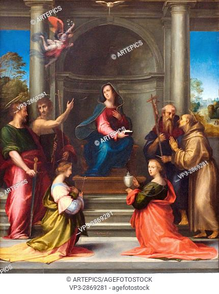 Baccio della Porta aka Fra Bartolomeo . L'Incarnation du Christ - The Incarnation of Christ. 1515 . Italian school . Oil on canvas