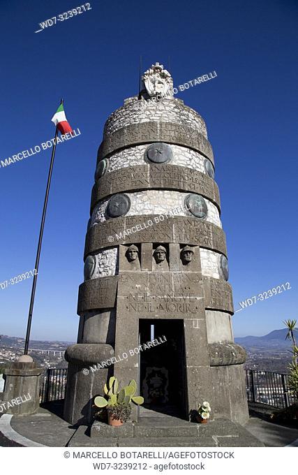 monument to the fallen in narni, near terni, umbria, italy