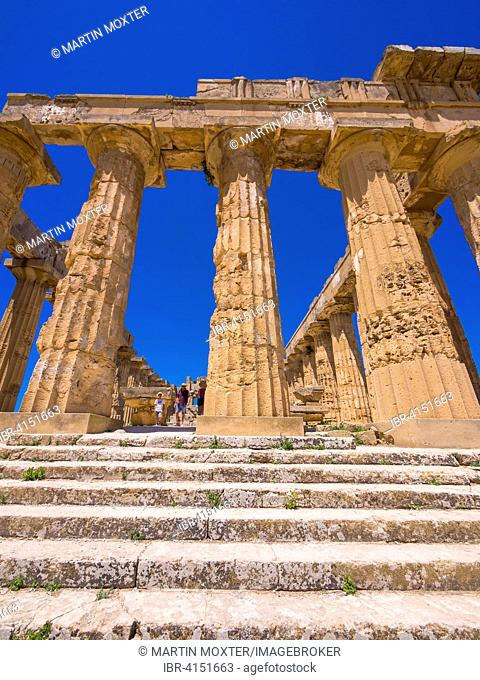 Temple of Hera or Temple E, Selinunte, Province of Trapani, Sicily, Italy