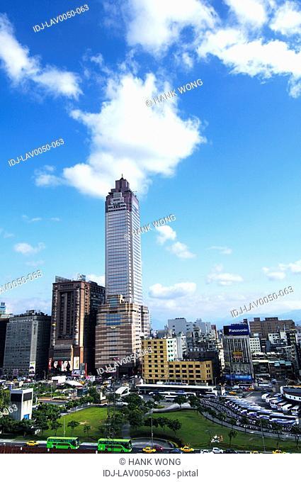 High angle view of a cityscape, Taipei, Taiwan