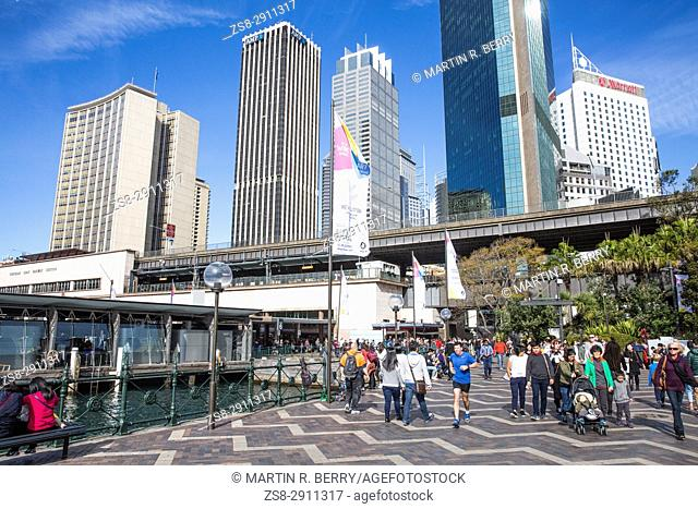 Circular Quay in the heart of Sydney city centre,New South Wales,Australia