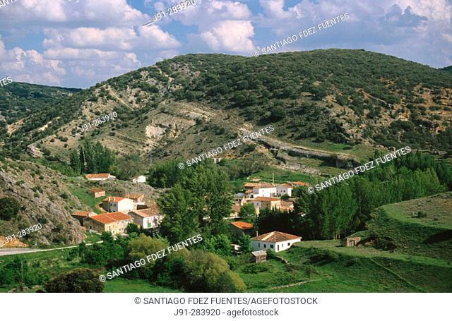 La Cabrera town in 'Hoces del Rio Dulce'. Guadalajara. Castilla-la Mancha, Spain