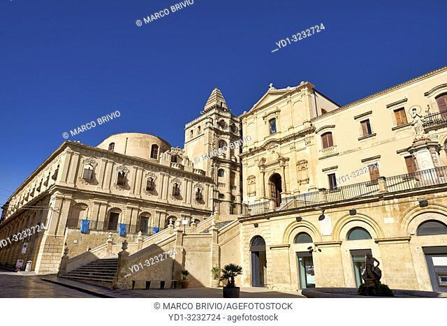 Church S. Francesco d'Assisi all'Immacolata dei Frati minori Conventuali. Noto Sicily Italy